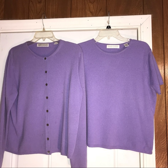 Valerie Stevens Tops - 💕Sale 100% cashmere 2-piece sweater set XL
